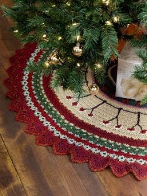 Caron Crochet Christmas Tree Skirt / I have to make this for next year!  ~Donna