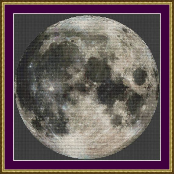 Full Moon - Counted Cross Stitch Pattern