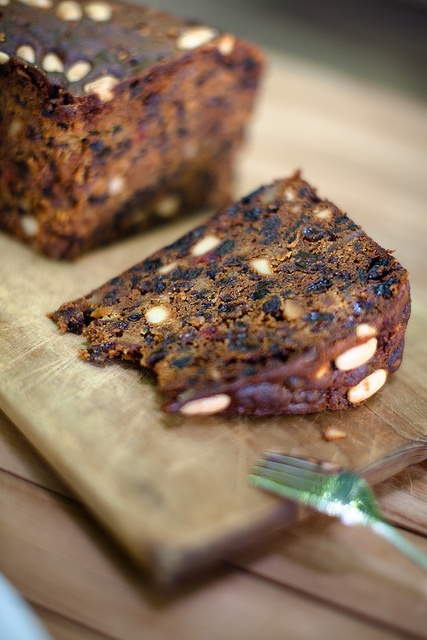 Christmas Cake with brandy soaked dried fruits & nuts.