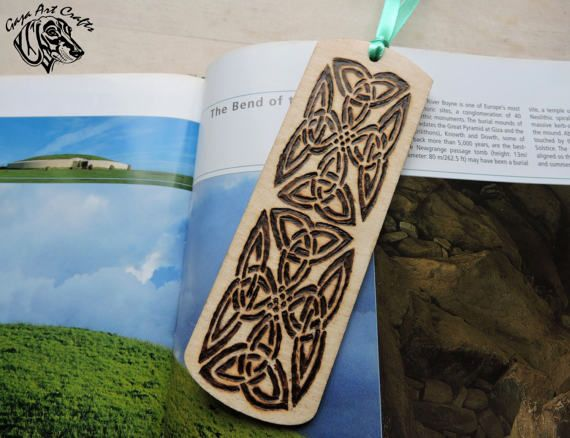 Complex Celtic Knot Bookmark Pyrography Celtic Bookmark