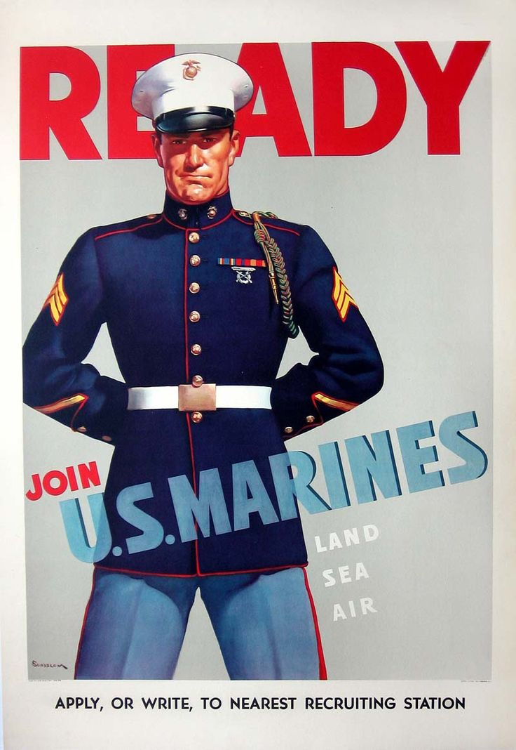 Marines recruiting poster