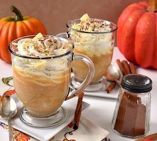 Witte Hot Chocolade met Pompoenkruiden