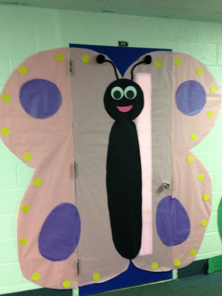 Butterfly Classroom Door Decorations ~ Butterfly door decoration school decorating ideas