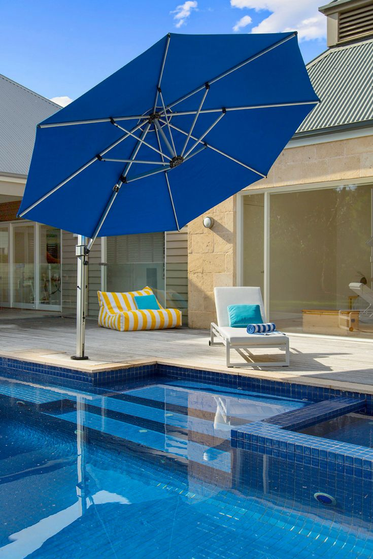 We are now stocking a quality range of shade umbrellas at Sticks + Stones Outdoor. Umbrellas for the backyard or pool area, fixed or mobile base, and wall-mounted options available. Various colours and sizes. Our Aurora Side Post Umbrella is a lightweight and compact cantilever umbrella that will suit your outdoor space. #outdoor #shadeumbrella #outdoorumbrella #outdoordesign