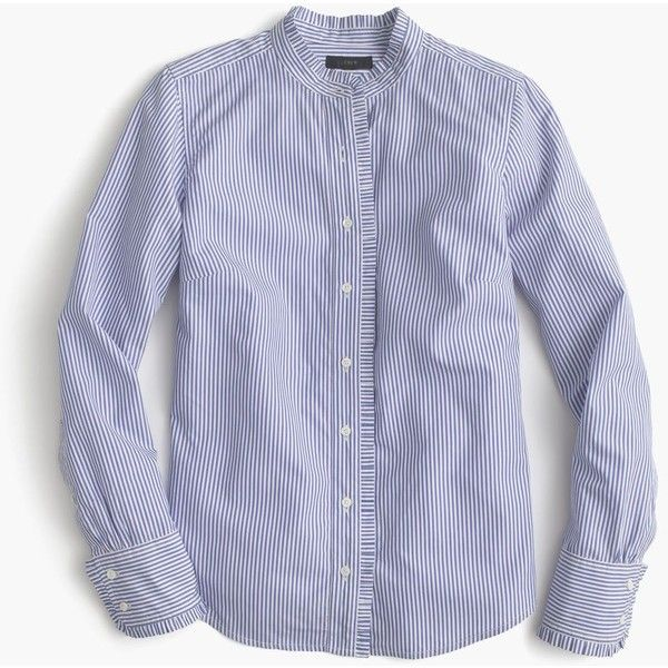 J crew tall ruffled button down shirt 115 liked on for Womens tall button down shirts