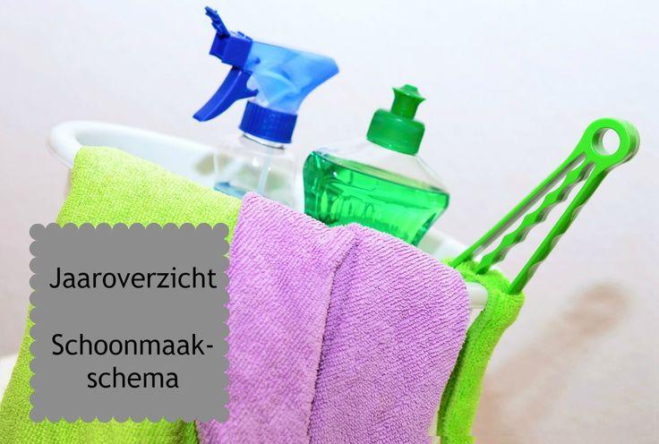 Jaaroverzicht -- schoonmaakschema