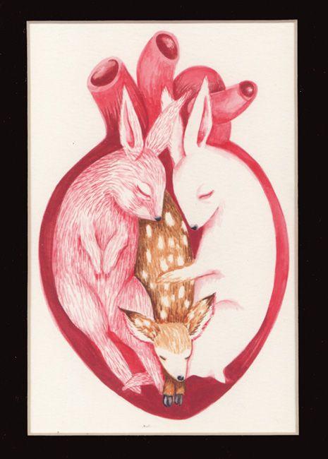 """Bunny Love"" by JennyBird Alcantara (© 2007)"