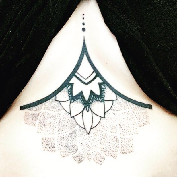 Petit nouveau en cours de fabrication 👍🏼⚒#tattoo #underboobtattoo #douleur #sternum #aie #entravaux