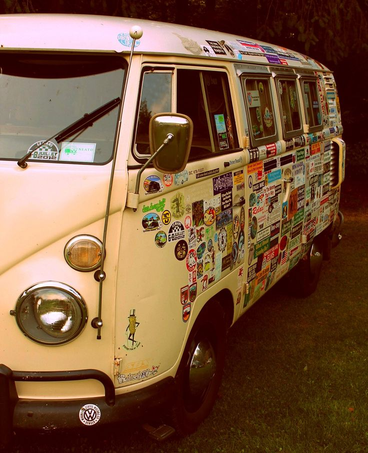 Volkswagen Van T1: VW Camper van love the stickers... always think they look cool when you decorate them yourself!