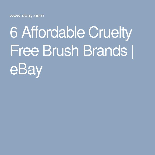 6 Affordable Cruelty Free Brush Brands | eBay