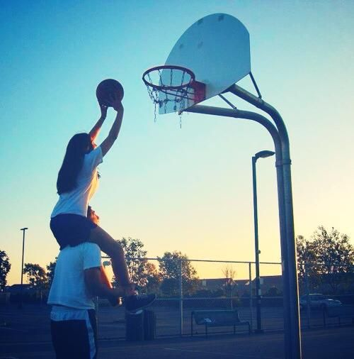 Hehe, me when my hubby & i play basketball :3