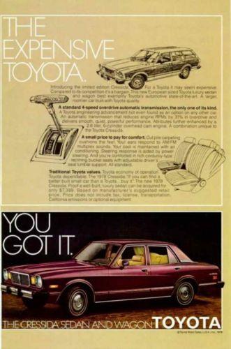 =-=1978 Toyota Cressida Sedan & Wagon