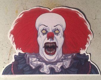 IT Pennywise Clown fridge magnet by CastleMcQuade on Etsy