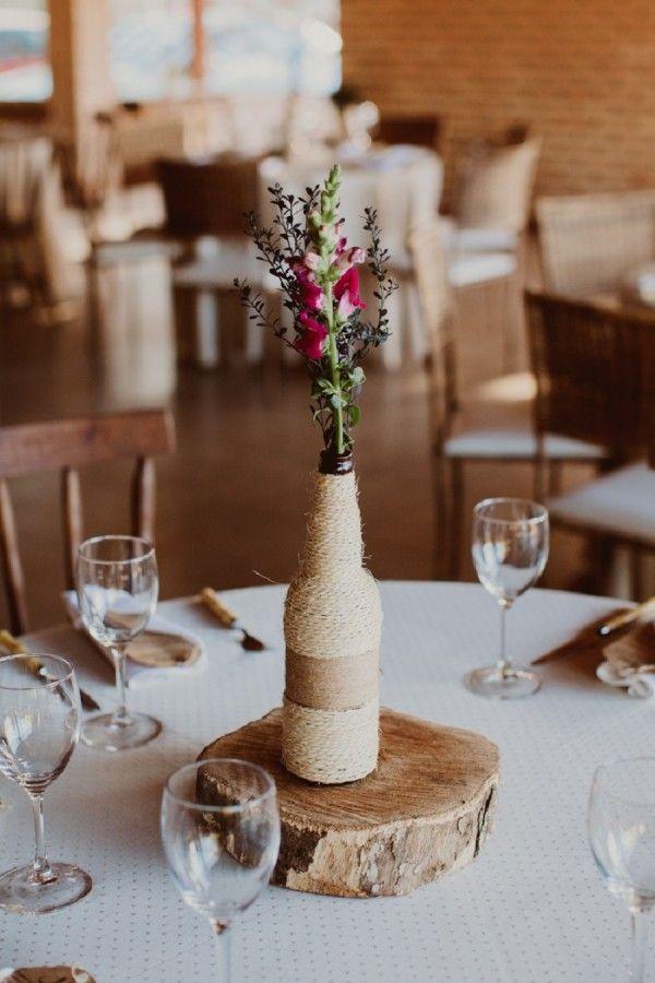 Centro de mesa rústico, casamento rústico                                                                                                                                                                                 Mais