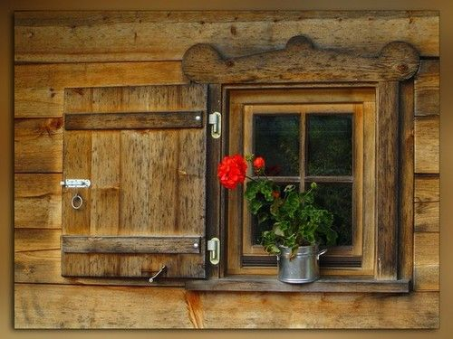 Log Cabins - What a cute little window!