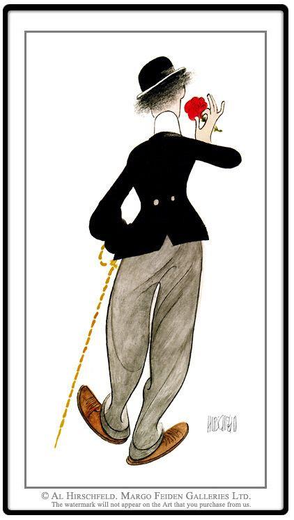 Charlie Prints Chaplin Al Hirschfeld