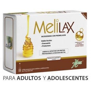 Aboca Melilax Adultos Microenema con Promelaxin 6 ud sirve para evacuar el intestino y reducir las molestias en caso de estreñimiento en adultos y adolescentes. 100% Natural. Cómpralo en http://www.parafarmacia-iglesias.com/aboca-melilax-adultos-microenema-con-promelaxin-6-uds