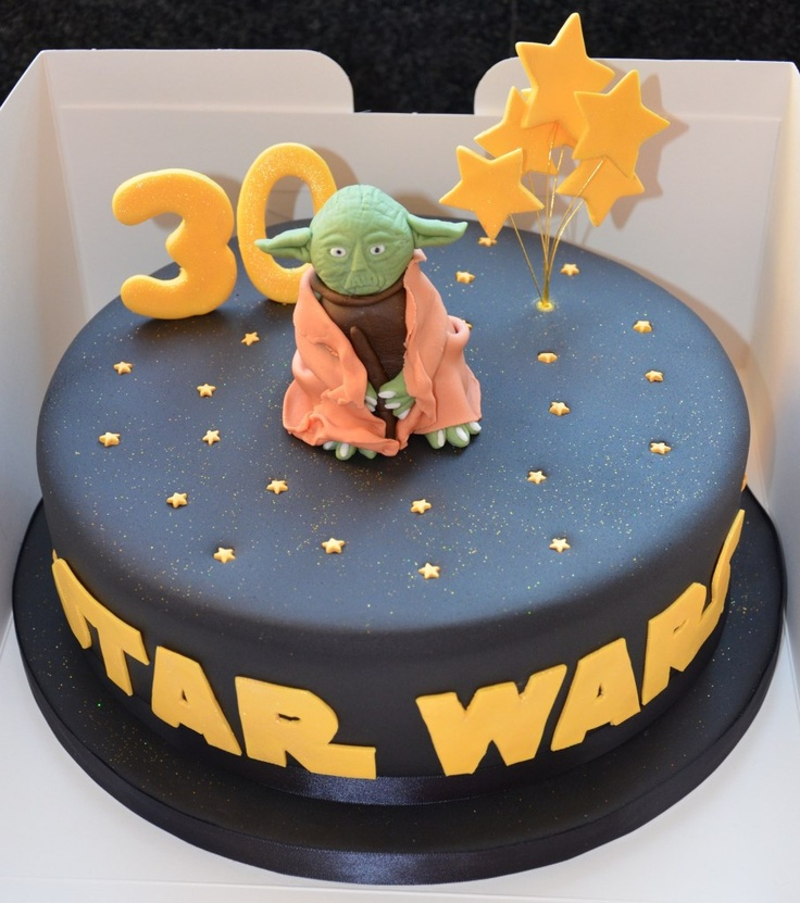 24 best images about yoda cakes on pinterest yoda cake birthday cakes and lady - Star wars birthday cake decorations ...