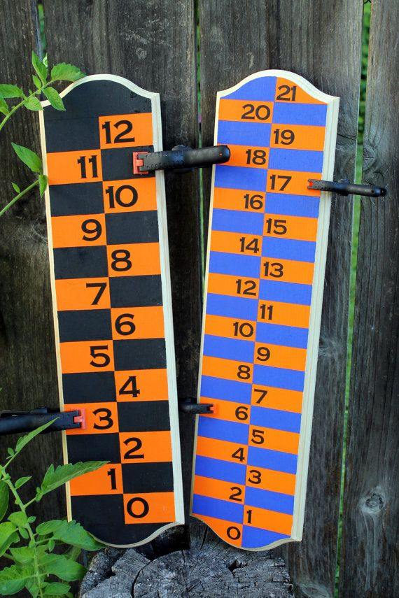 Backyard Scoreboard for bocce ball cornhole by CraftyErin on Etsy