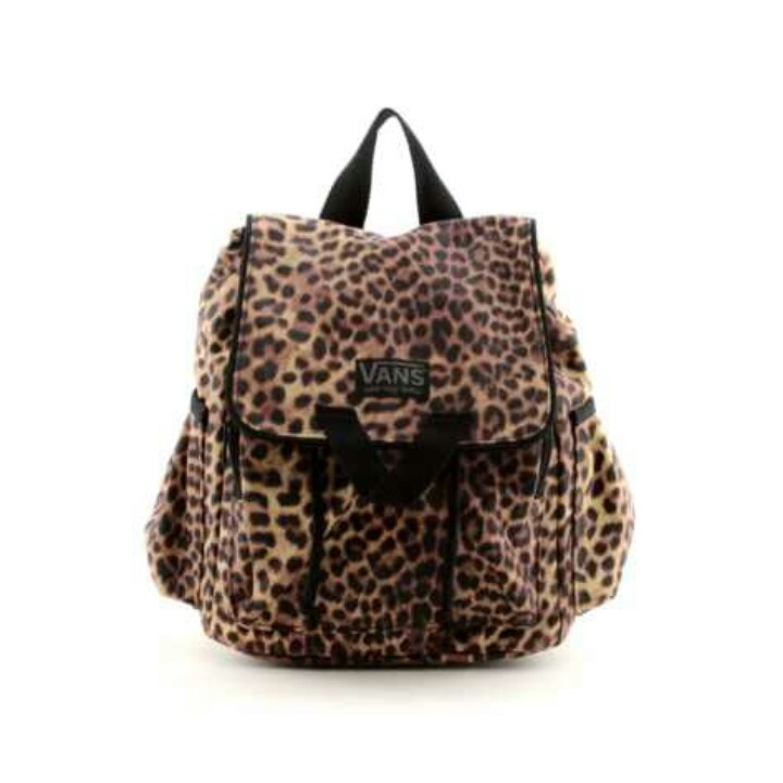 Cheetah Vans Backpack Tooo Cute
