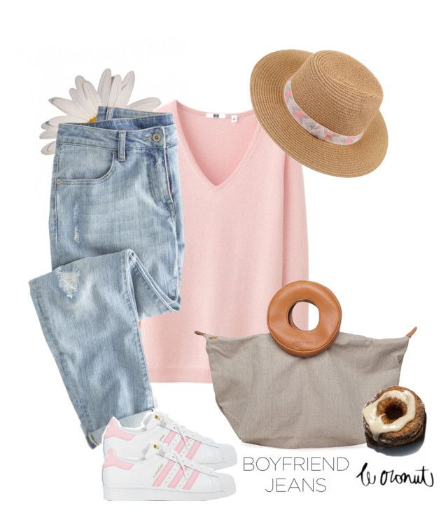 """My BF's jeans"" by danigaviria on Polyvore featuring Uniqlo, Wrap, Bless, adidas and Ally Fashion"