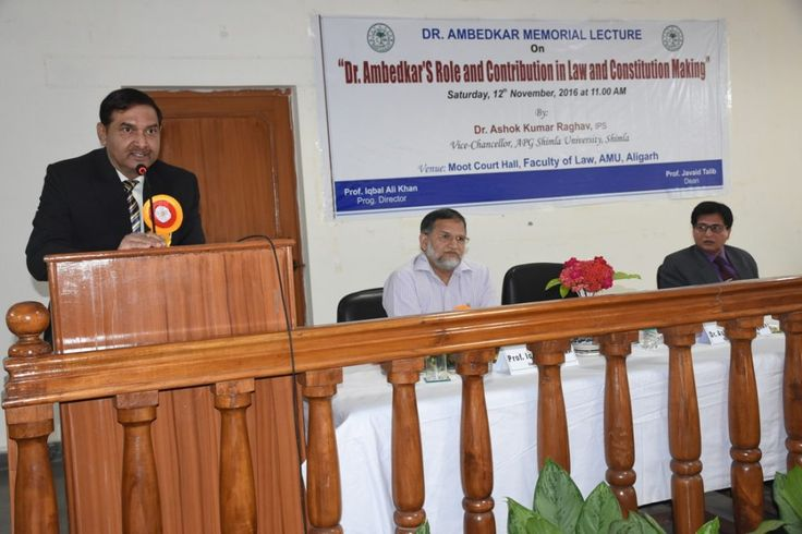 """Dr Ashok Kumar Raghav, #ViceChancellor delivering #Ambedkar #Memorial Lecture 2015-16 on """"#Dr_Ambedkar's Role and #Contribution in #Law_and_Constitution_Making"""" sponsored by Dr. Ambedkar Foundation, Ministry of #Social_Justice and Empowerment, Govt. of #India, #NewDelhi under the aegis of Dr. Ambedkar Chair of Legal Studies and Research at #Aligarh #Muslim #University, Aligarh (#AMU)."""