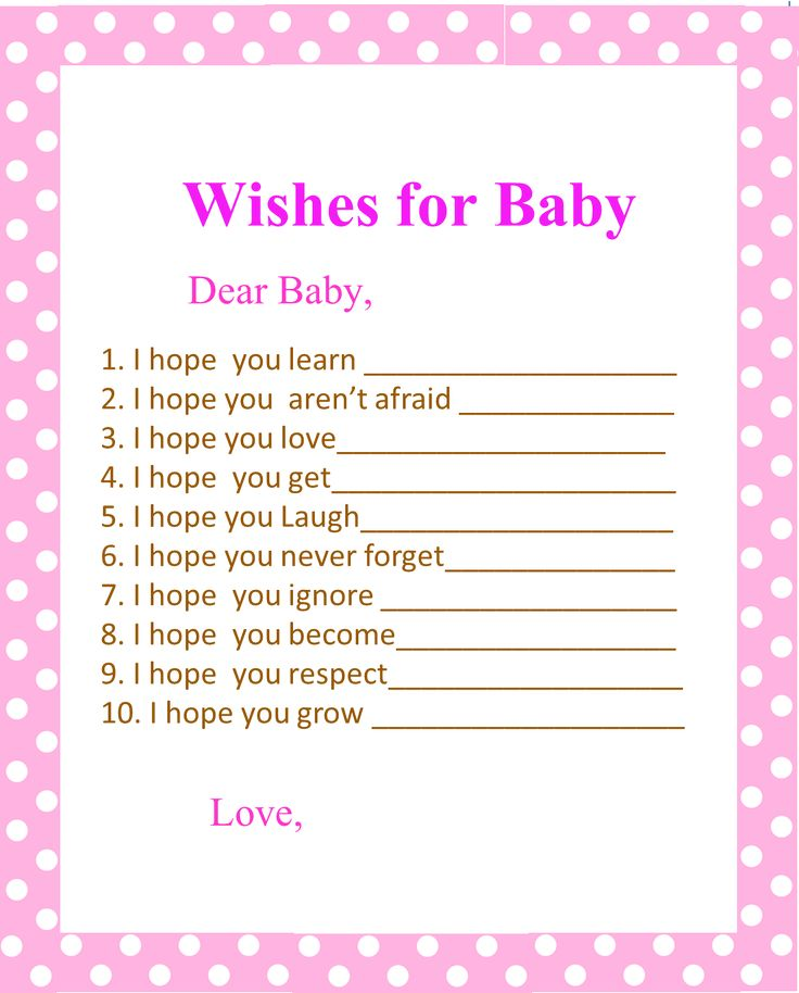 Wishes For Baby Pink Polka Dots And Baby Showers On Pinterest