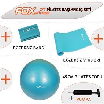 Fox Fitness Pilates Başlangıç Seti (65cm Top + Egzersiz Bandı + Egzersiz Minderi)