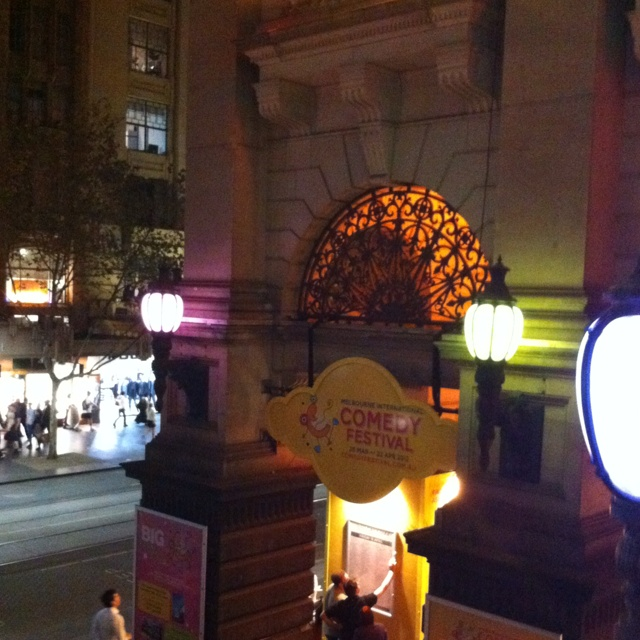 Another night, another couple of shows. And view from the tiniest balcony in Melbourne.