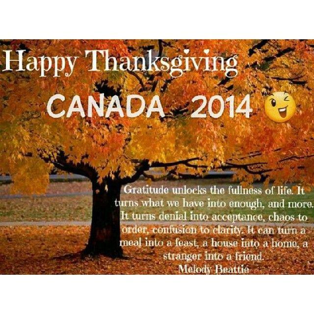 Happy Thanksgiving Canada #HappyThanksgiving