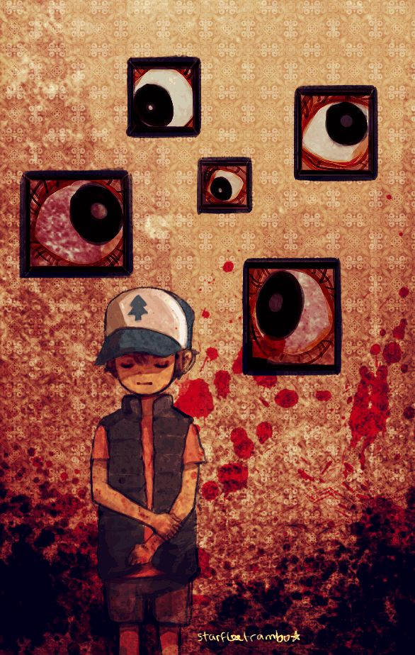 what if the Bill's mindscape looked like the hallway from the Silent Hill PT and Dipper got trapped in it somehow??