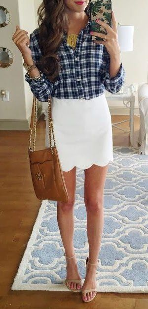 summer outfits  Gingham & Scallops