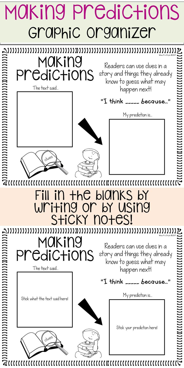 Best 25+ Making predictions ideas on Pinterest | Prediction anchor chart,  Predicting activities and Comprehension ks2