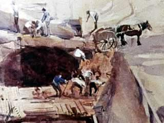 Death of a Workman In A Streeton Painting - ESL, Artists at work
