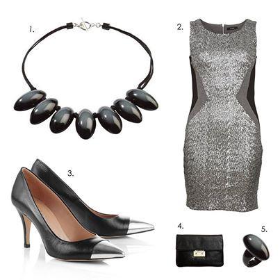 Стильный наряд от ZSISKA для гламурной вечеринки:  1. Ожерелье ZSISKA, коллекция Opaque 2. Платье VILA Clothes 3. Туфли Esprit  4. Клатч Michael Kors 5. Кольцо ZSISKA, коллекция Opaque