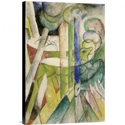 Global Gallery Mountain Goats (Bergziegen) by Franz Marc Painting Print on Wrapp
