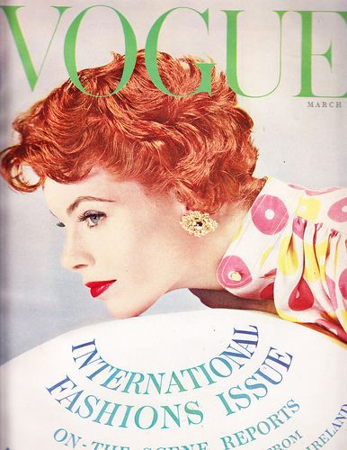 Vogue March 15 1954 Blumenfeld International Fashion Claire McCardell Balenciaga | eBay