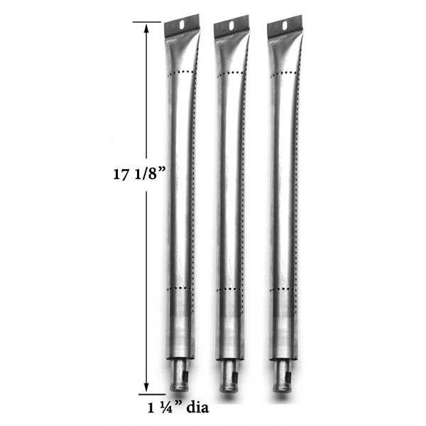3 PACK STAINLESS STEEL BURNER FOR ONWARD 224069 GAS MODELS Fits Compatible Onward Models :  224069