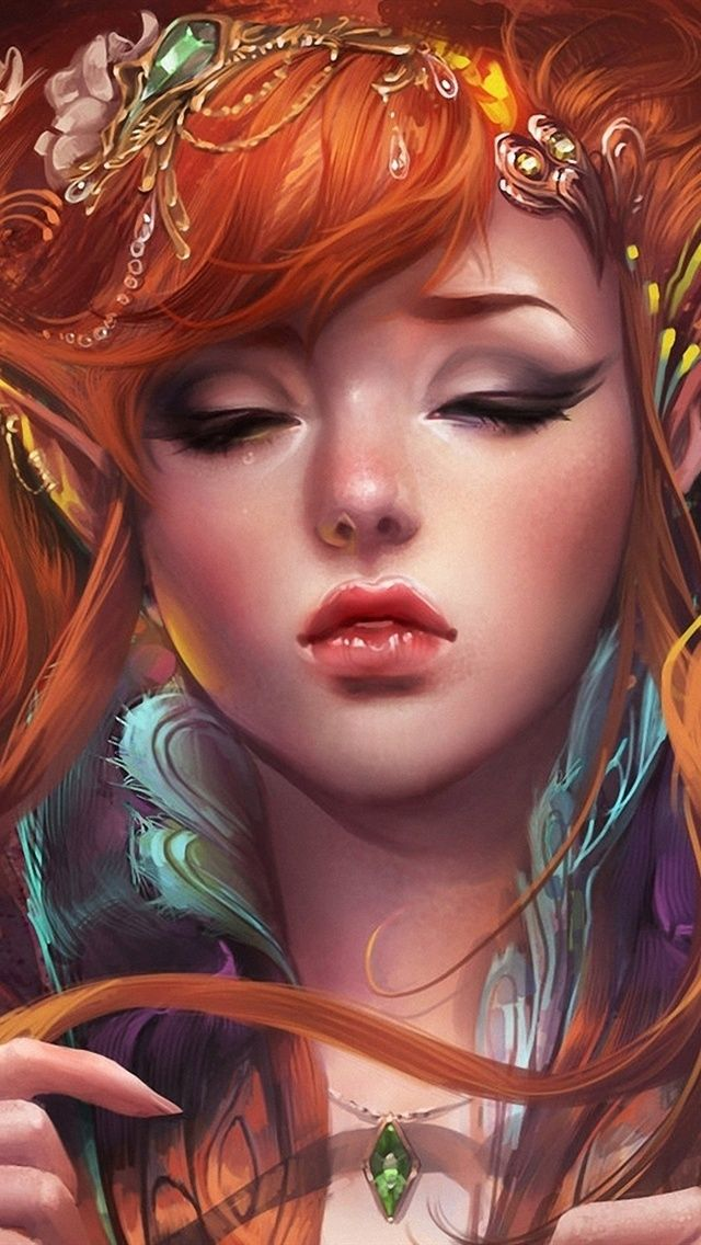 Fantasy girl wallpapers for iphones 69 fantasy elves girl iphone 5 5s 5c wallpaper 640x1136 voltagebd Images