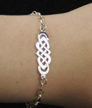 Silver Celtic bracelet