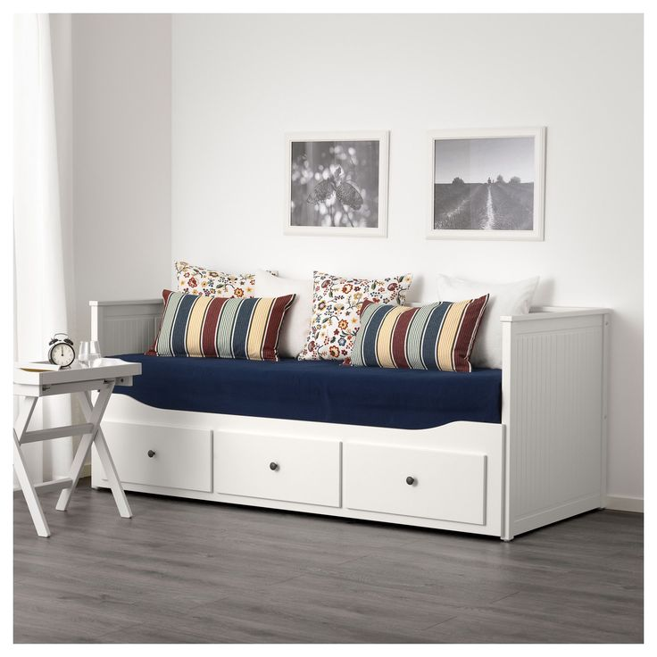 hemnes daybed frame with 3 drawers white