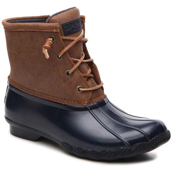 Sperry Top-Sider Sweetwater Duck Boot ($110) ❤ liked on Polyvore featuring shoes, boots, winter boots, fleece lined duck boots, waterproof shoes, cold weather waterproof boots and duck boots