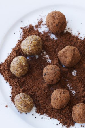 Healthy Licorice truffles