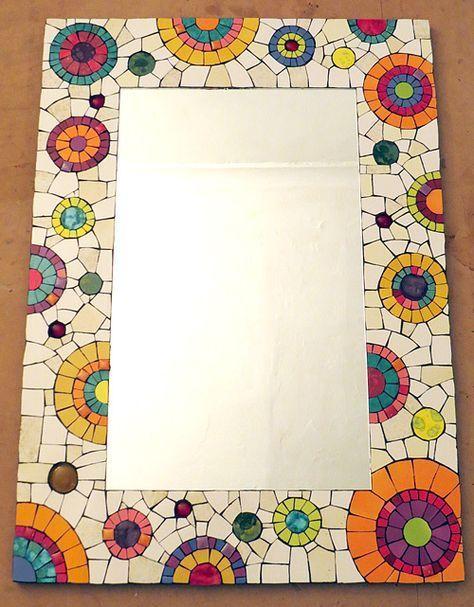 Resultado de imagen para espejos decorados en pinterest