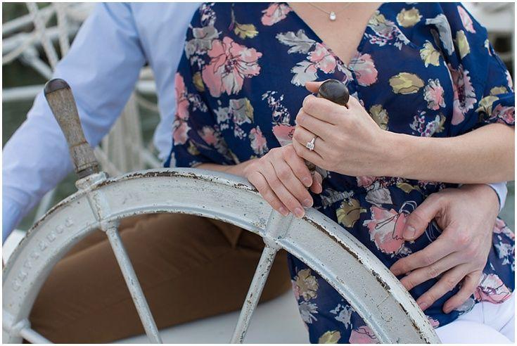 Nautical Engagement Session. Chesapeake Bay Maritime Museum Wedding Photography. Laura's Focus Photography.