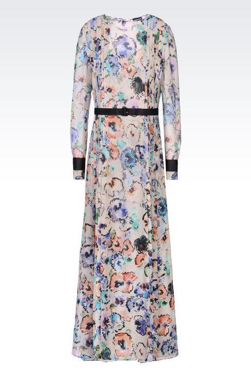 RUNWAY LONG DRESS IN SILK: Dresses Women by Armani - 1