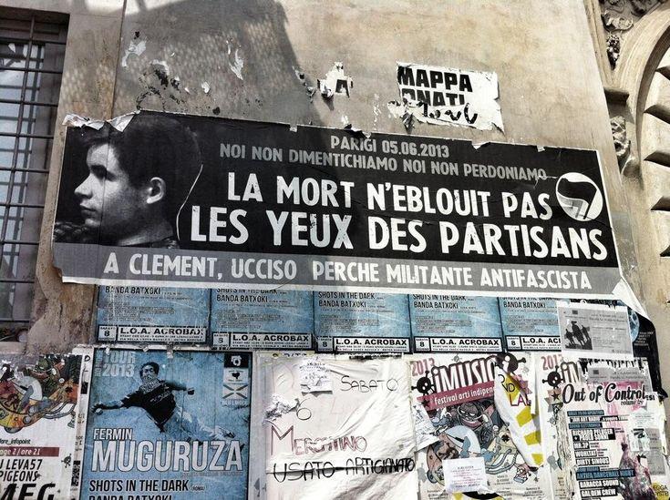 """Au hasard d'une rue de Rome... """"l'affiche rouge"""" #ClémentMéric via @MCPietragalla"""