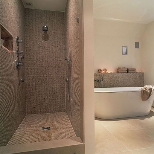 33 best images about salle de bain on pinterest caves for Salle de bain avec douche italienne