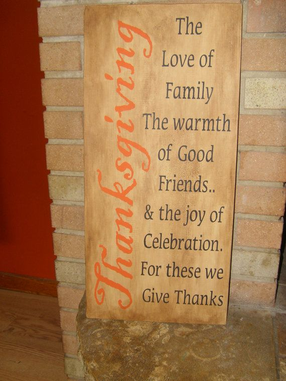 +pib  A FaLL HoLiDaY THANKSGIVING PriMiTiVe WooD SiGn HoMe Decor WaLL Hanging HaLLoWeen TuRKey Pumpkin Pie. $25.95, via Etsy.