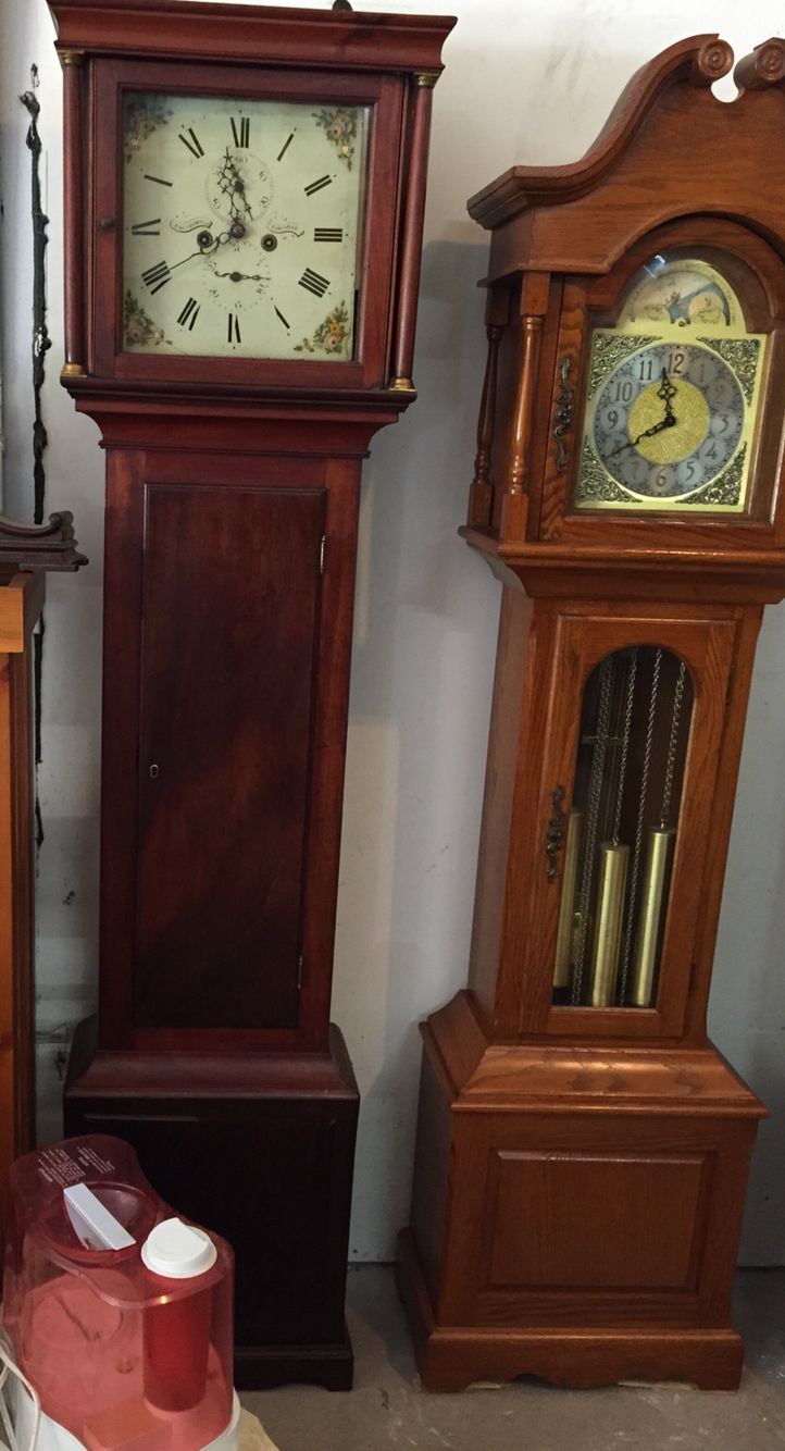 Grandfather Clocks Clock On Left From Late 1700 S